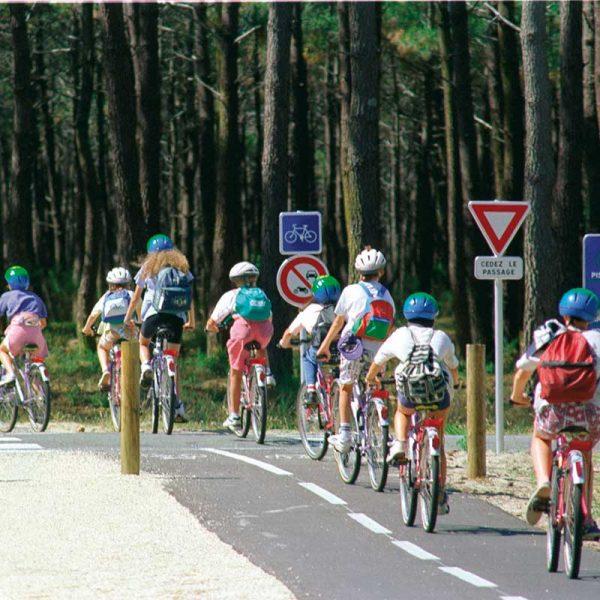 Les pistes cyclables à Soulac