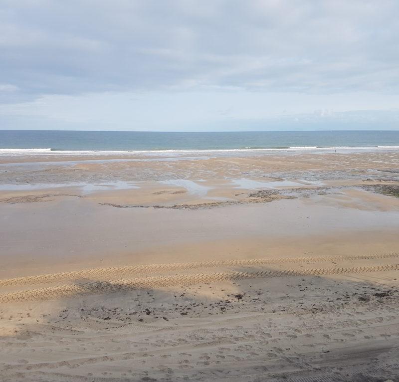 Travaux de rechargement de la plage des Naïades