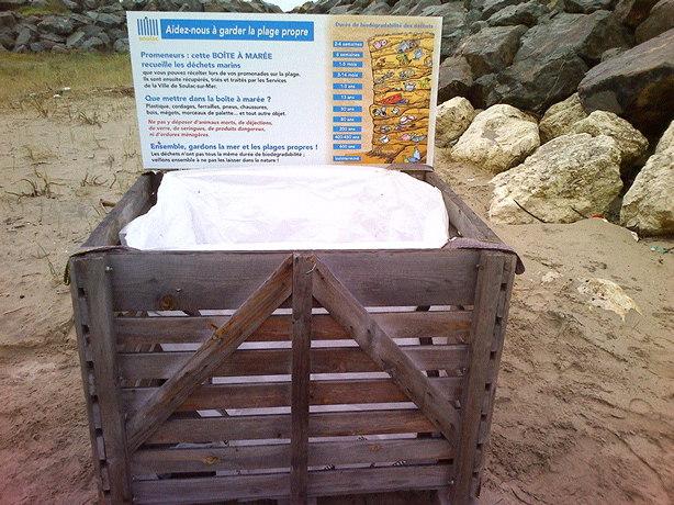 Installation des boîtes à marée